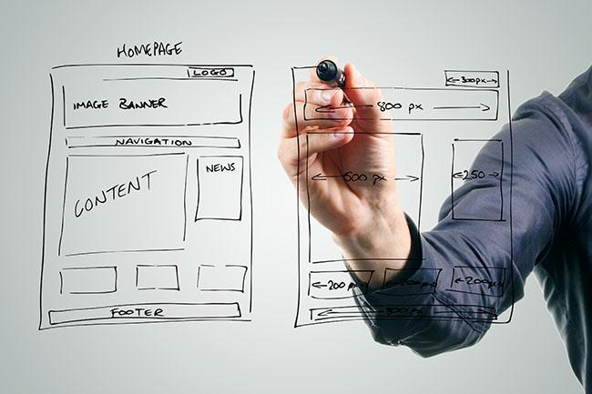 criação de website